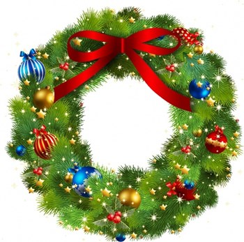 Holiday Wreath clipart