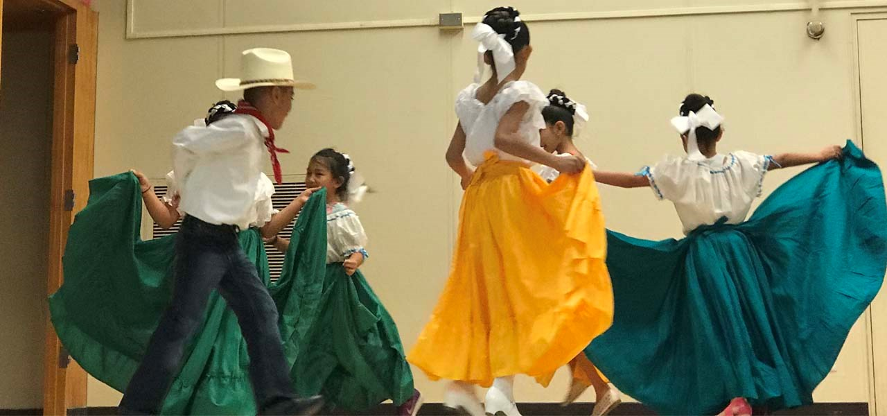 Folklorico Dancers on stage