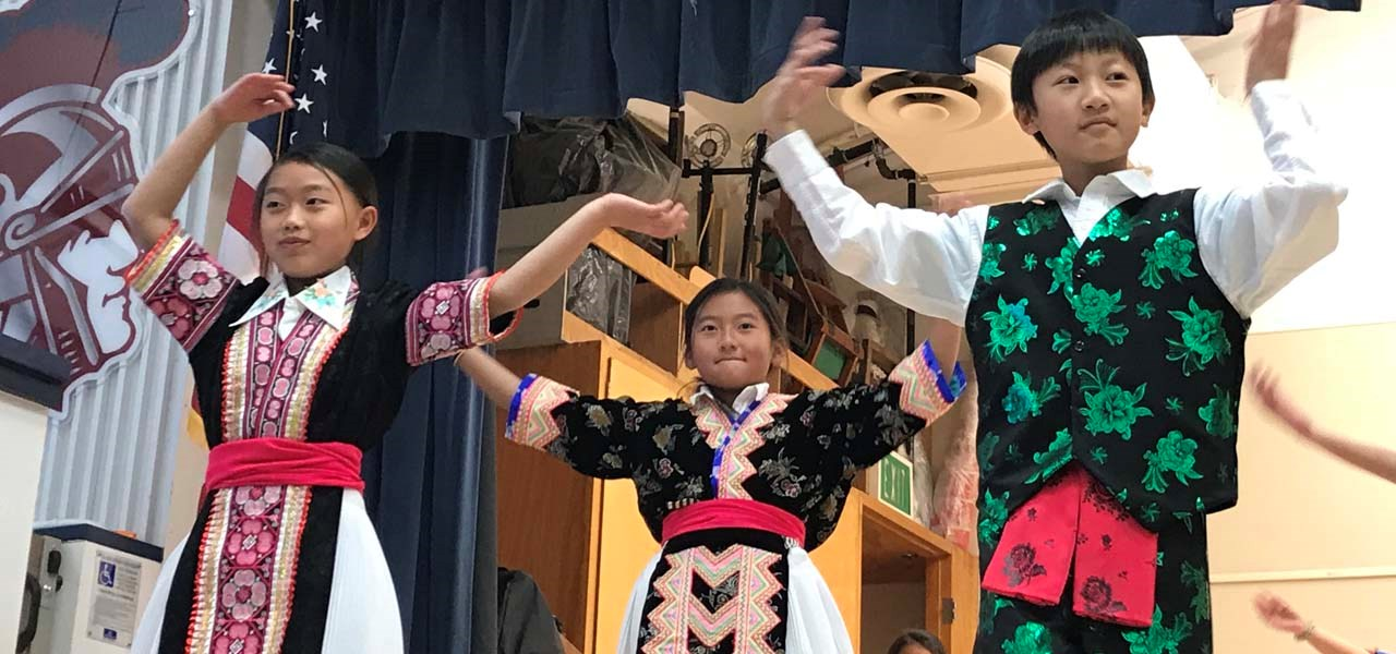 Hmong dancers performing