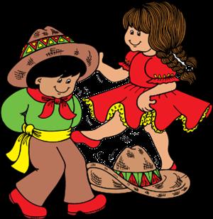 Folklorico dancers clip art