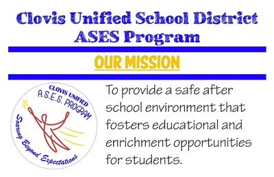 ASES After School Program Logo and Mission