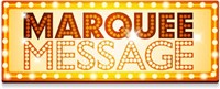 Marquee Message sign clip